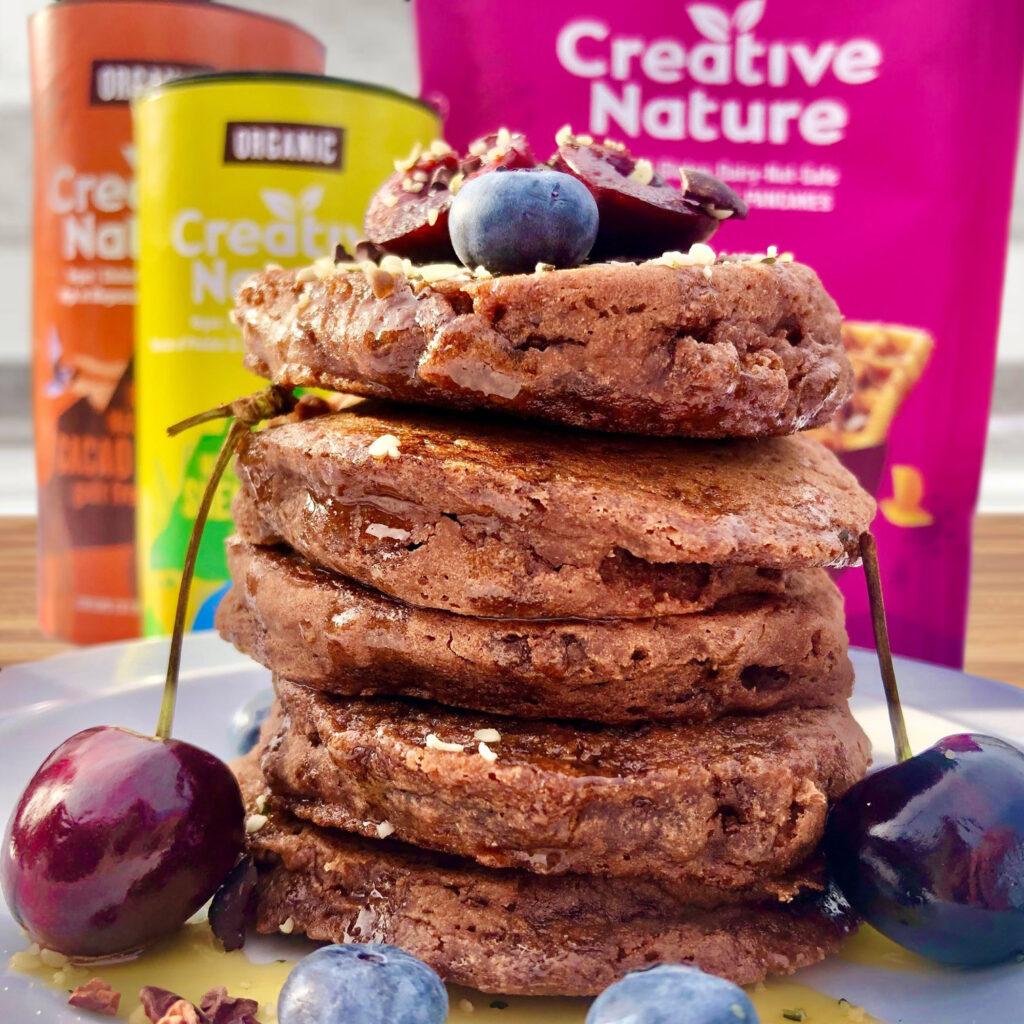Raw Cacao Pancakes