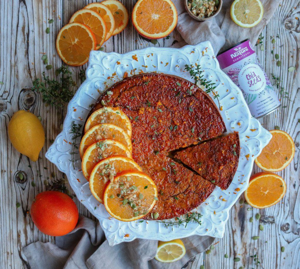 Vegan Orange & Carrot Polenta Cake