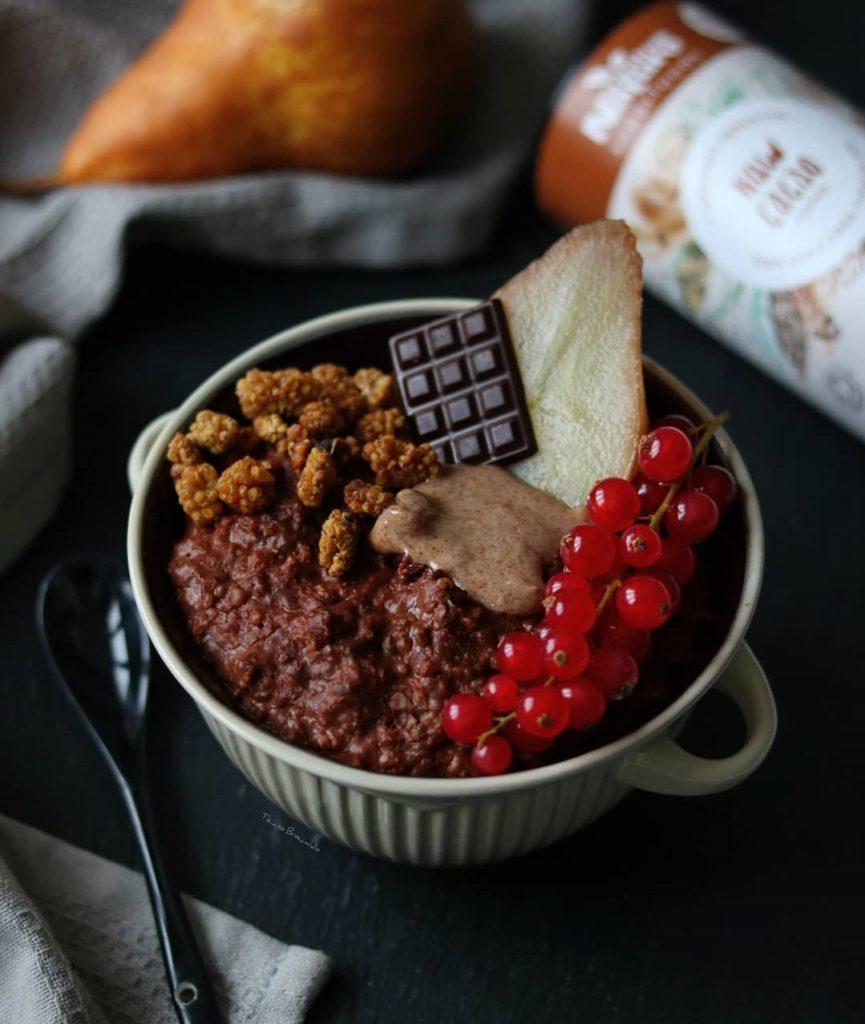 Spiced Pear and Cacao Porridge