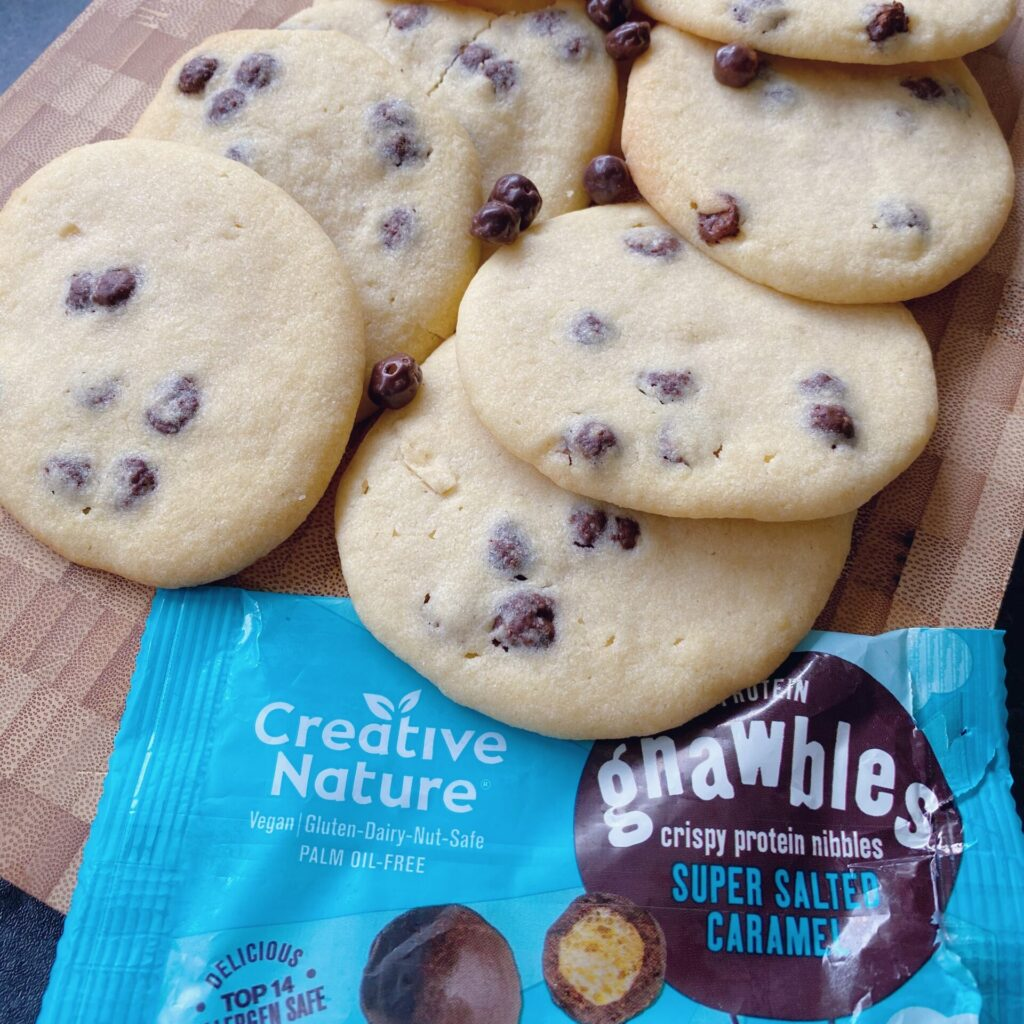 Salted Caramel Gnawble-Chip Cookies!