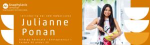 julianne ponan as anaphylaxis ambassador