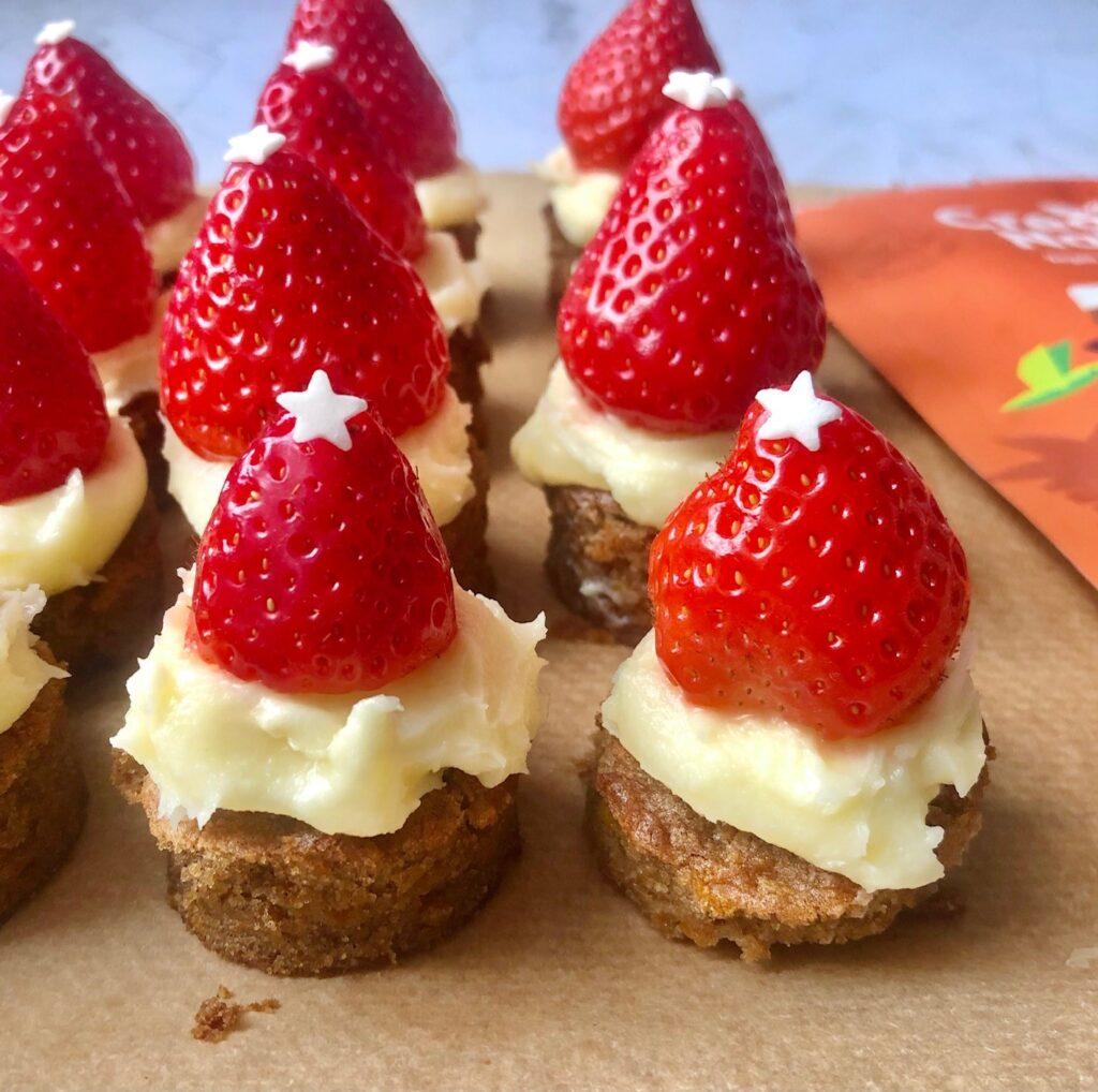 Carrot Cake Santas