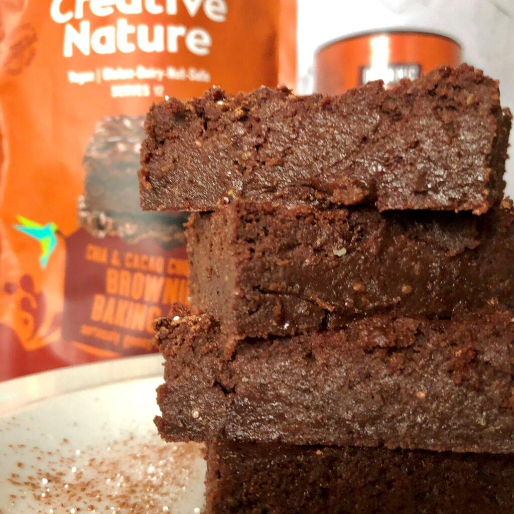 photo of beetroot brownies