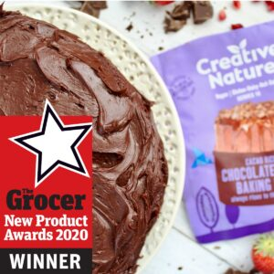 photo of grocer award winning chocolate cake mix