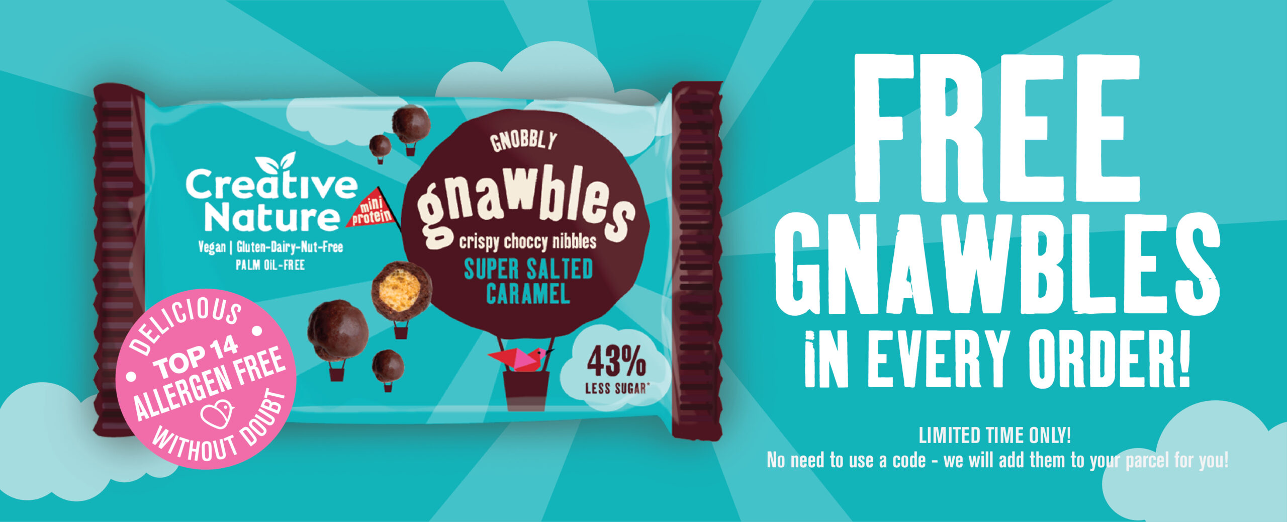 Free Salted Caramel Gnawbles with every order!