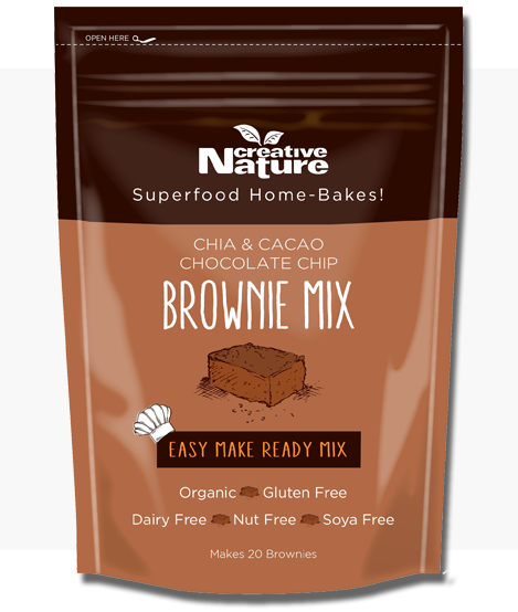 organic chia cacao brownie mix allergen free creative nature