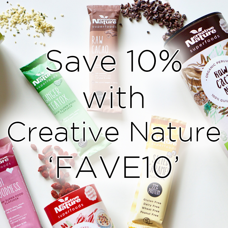 Save 10% with Creative Nature, FAVE10